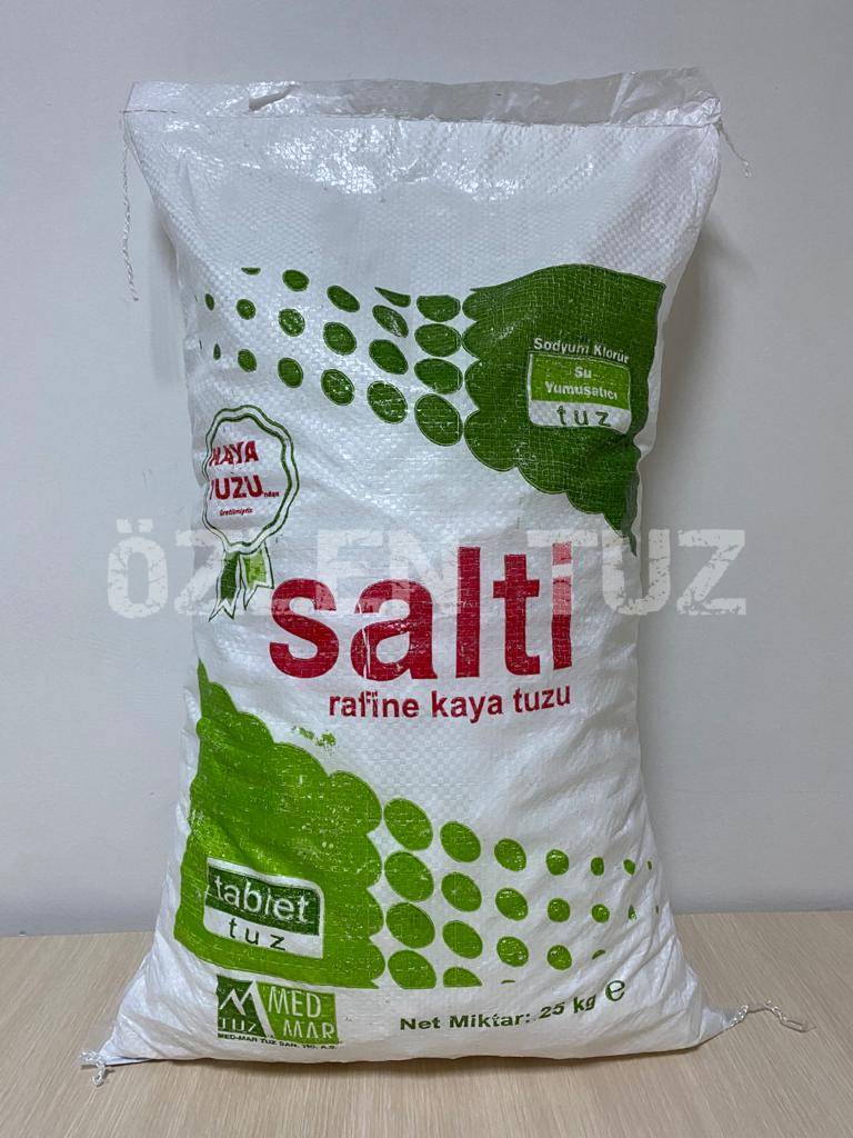 25 KG'lık Rafine Tablet Tuz